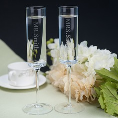 personalisé Design simple Verre Flûtes à champagne (Lot De 2)
