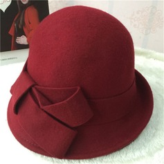 Ladies' Glamourous/Elegant Wool With Bowknot Bowler/Cloche Hat