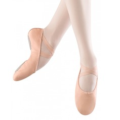 Women's Real Leather Flats Ballet Dance Shoes (053121375)