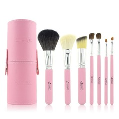7 Pcs Makeup Brush Set With Brush Cylinder Tube