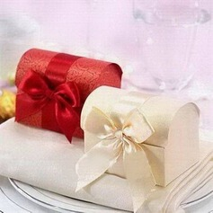Treasure Chest Card Paper Favor Boxes With Ribbons