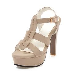 De mujer Ante Tacón stilettos Sandalias Salón Plataforma con Agujereado zapatos