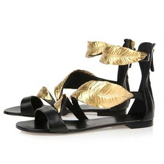 Real Leather Flat Heel Sandals Flats shoes