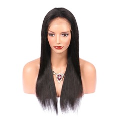 5A Virgin/remy Straight Human Hair Lace Front Wigs 250g