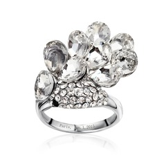Exquisite Alloy/Platinum Plated Ladies' Rings