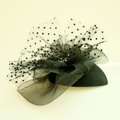 Damer' Vackra Och Netto garn/Strass Fascinators/Tea Party Hattar