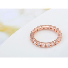 Lovely Alloy Zircon Copper Ladies' Fashion Rings