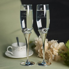 Personalized Toasting Flutes Zinc Alloy/Glass Toasting Flutes