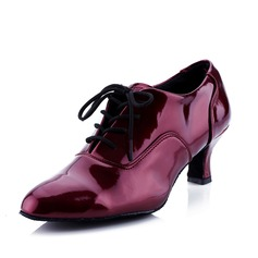 Women's Leatherette Heels Swing With Lace-up Dance Shoes