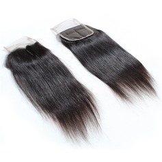 "5A 4""*4"" Derecho Longitud media Largo Cabello humano closure (Sold in a single piece) 100g"
