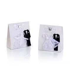 Bride & Groom Handbag shaped Favor Boxes With Bow