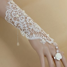 Fashional Fabric With Imitation Pearl Lace Resin Women's Fashion Bracelets (Sold in a single piece)