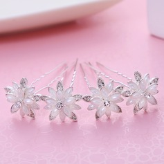 Ladies Lovely Alloy Hairpins (Set of 4)