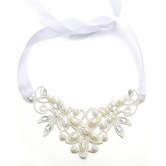 Ladies Glamourous Imitation Pearls Forehead Jewelry With Venetian Pearl (Sold in single piece)