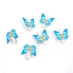 Butterfly Wooden Clips