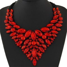 Gorgeous Alloy Resin With Resin Ladies' Fashion Necklace (137095372)