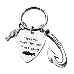 Personalized Modern Stainless Steel Keychains With Tag/Fish Hook