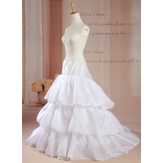 Women Taffeta/Polyester Chapel Train Petticoats