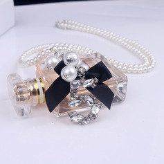 Shining Alloy Gold Plated With Rhinestone Imitation Stones Ladies' Fashion Necklace
