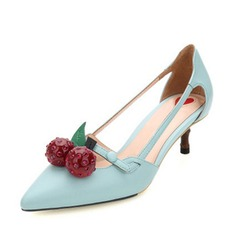 Women's Leatherette Low Heel Sandals Pumps Closed Toe With Hollow-out shoes (087116170)
