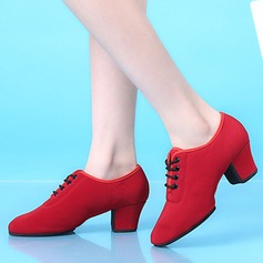 Women's Cloth Boots Practice Dance Shoes