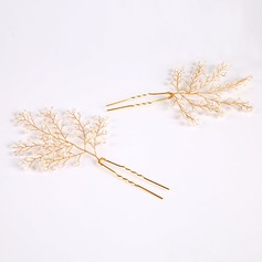 Glamourous Crystal/Alloy Hairpins (Sold in single piece)