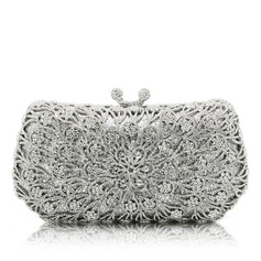 Refined Crystal/ Rhinestone/Alloy Clutches