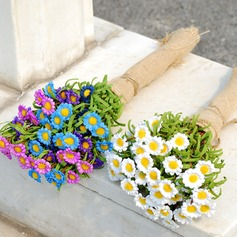 Lovely Free-Form Fabric Bridal Bouquets -
