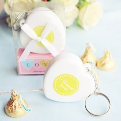 """Measure Up Some Love"" Heart Tape Measure Keychain"