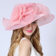 Ladies' Beautiful/Fashion/Glamourous With Flower Beach/Sun Hats/Kentucky Derby Hats