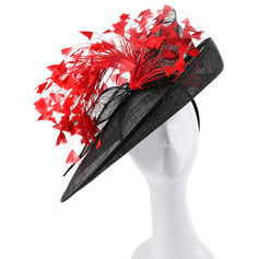 Ladies' Unique/Exquisite/Eye-catching Cambric With Feather Kentucky Derby Hats/Tea Party Hats