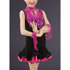 Kids' Dancewear Polyester Latin Dance Dresses