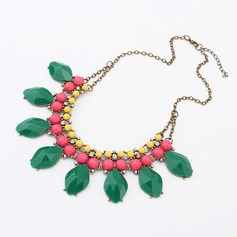 Colourful Alloy With Acrylic Ladies' Fashion Necklace