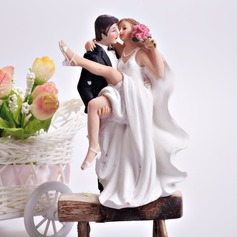 """Crossing The Threshold"" Resin Wedding Cake Topper"
