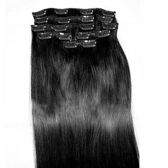 5A Virgin/remy Straight Human Hair Clip in Hair Extensions 8pcs 100g