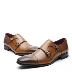 Men's Real Leather Monk-straps Dress Shoes Men's Oxfords (259171632)