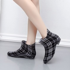 Women's PVC Low Heel Boots Ankle Boots Rain Boots With Others shoes