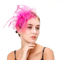 Ladies' Classic Feather/Net Yarn With Feather Fascinators/Kentucky Derby Hats