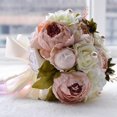 Low-key Round Emulational Succulent Plant Bridal Bouquets/Bridesmaid Bouquets -