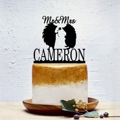 Personalized Bride And Groom Acrylic Cake Topper (Sold in a single piece)