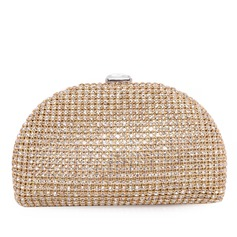 Fashional Fabric With Rhinestone Clutches