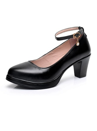 Women's Real Leather Heels Ballroom Character Shoes Dance Shoes