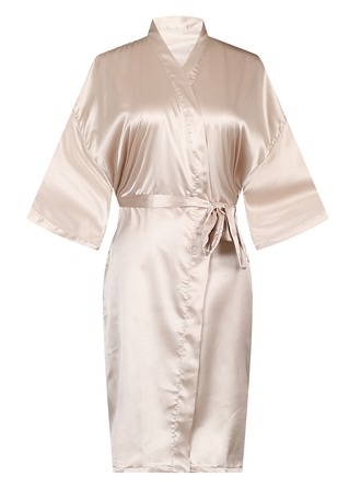 Polyester Bride Bridesmaid Blank Robes