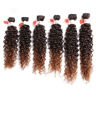 Kinky Curly cheveux synthétiques Tissage en cheveux humains 8PCS 100 g