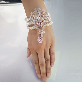 Imitation Pearl Wrist Corsage (Sold in a single piece) -