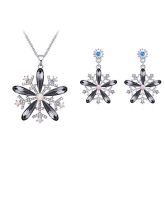 Ladies' Pretty Alloy/Platinum Plated With Marquise Austrian Crystal Jewelry Sets For Bride/For Friends