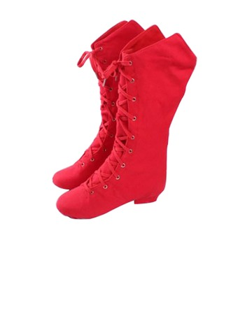 Women's Kids' Canvas Boots Practice Dance Shoes