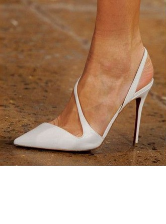 Women's Leatherette Stiletto Heel Pumps Slingbacks With Others