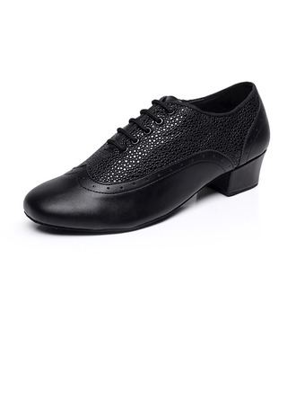 Men's Real Leather Heels Pumps Latin Ballroom Swing Practice Character Shoes Dance Shoes