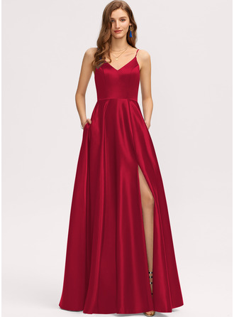 Satin Bridesmaid Dress With Pockets
